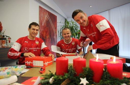Spieler machen Weihnachtsgeschenke