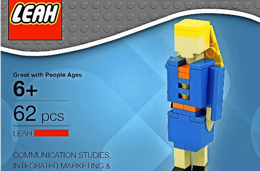 fr ihre bewerbung bei lego hat sich leah bowman selbst als lego figur gestaltet - Originelle Bewerbung