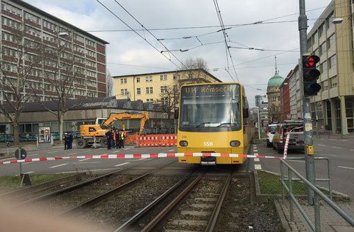 Wegen einer heruntergerissenen Oberleitung kam der Stadtbahnverkehr in Stuttgart am Mittwoch ins Stocken. Foto: Holger Wittich
