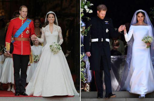 Meghans und Kates Brautkleider – ein Vergleich