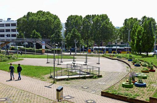 Die Skaterelemente auf dem Karl-Benz-Platz sind abgebaut. Foto: Alexander Müller