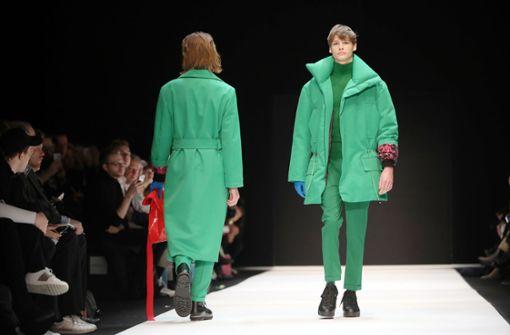 Berliner Modewoche startet mit grünen Männern