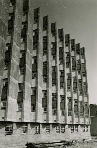 Foto Vollzugsanstalt Stammheim im Bau in den 1960er JahrenHaus der Geschichte Baden-Württemberg Foto: Ingeborg Liebewein