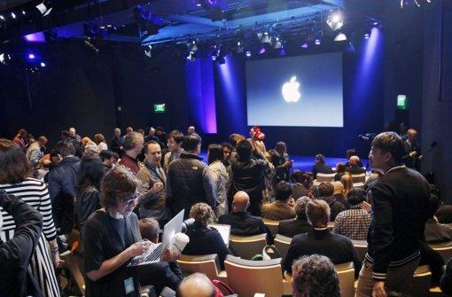 Am Abend hat Apple-Chef Tim Cook im Hauptsitz in Cupertino Neuheiten vorgestellt. Foto: AP