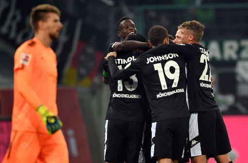 Borussia Mönchengladbach geht bei der Partie gegen den VfB Stuttgart als Sieger vom Platz. Foto: dpa
