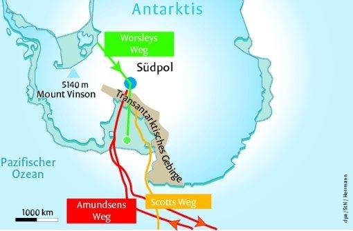 Zu Fuß alleine durch die Antarktis
