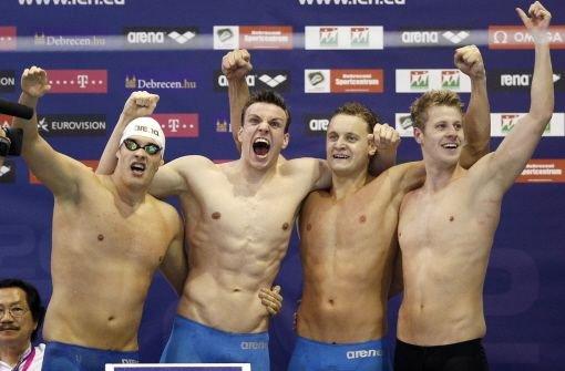 Deutsche Schwimmstaffel ist Europameister