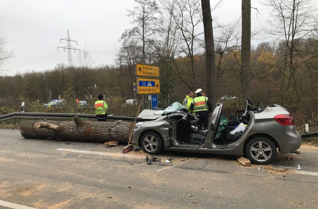 Die Unfallstelle zwischen Sindelfingen und Stuttgart - Stuttgarter ...