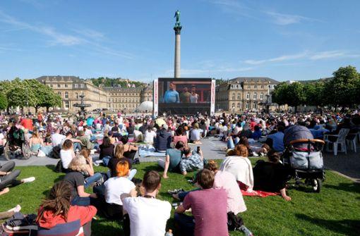 Im Frühjahr lockt das Internationale Trickfilmfestival Besucher in die Stadt. Die Filme werden teilweise auf dem Schlossplatz gezeigt. Foto: dpa