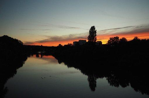 Herbstliche Abendröte über Stuttgart