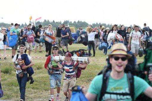 Großer Ansturm aufs Festivalgelände