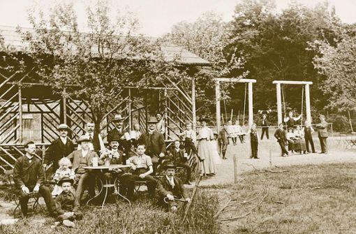 Das Bild aus dem Waldheim Heslach wurde zwischen 1908 und 1910 aufgenommen. Das Heslacher Waldheim ist das älteste der Stadt.  Foto: Waldheim Heslach