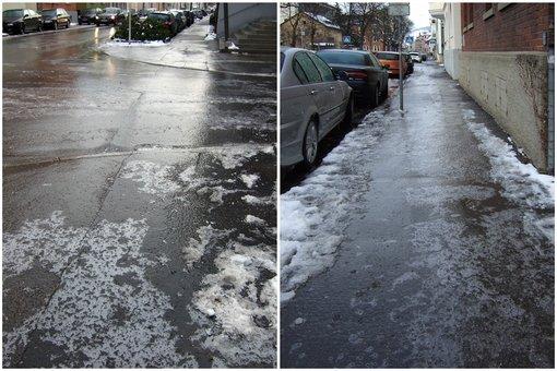 Der Eisregen, der in den vergangenen Nächten auf Stuttgart und die Region prasselte, machte Straßen zu gefährlichen Rutschbahnen - hier die Bilder unserer Leserfotografen, die ganz vorsichtig mit der Kamera unterwegs waren. Hier: Glatteis in Esslingen. Foto: Leserfotograf bdslucky48