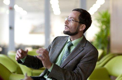 Systemwissenschaftler Volker Quaschning im Gespräch Foto: Quaschning