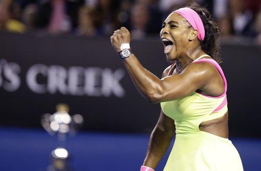Serena Williams setzt sich die Krone auf