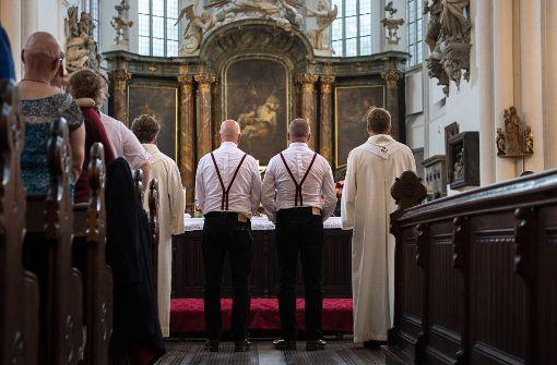 Eine gleichgeschlechtliche Trauung in Berlin. Foto: dpa
