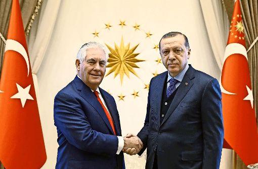 Ein schwieriges Treffen mit dem türkischen Amtskollegen Mevlüt Cavusoglu
