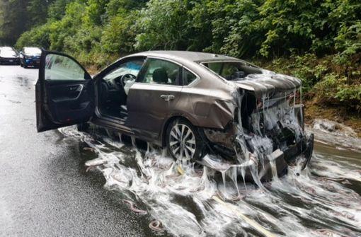 Glitschiger US-Highway gesperrt