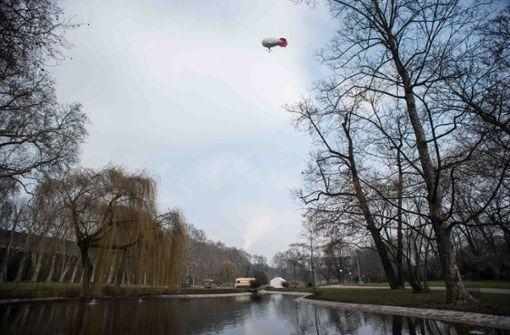 Der Fesselballon im Unteren Schlossgarten war bereits im Februar zum Einsatz gekommen. Foto: Lichtgut/Max Kovalenko