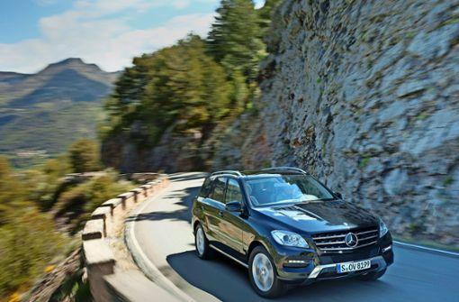Die Mercedes M-Klasse ist die Nummer eins bei den Geländewagen. Foto: MediaPortal Daimler AG
