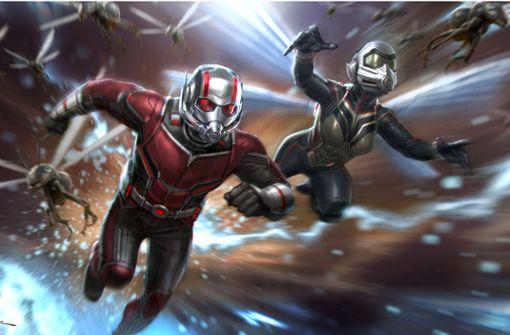 Der Superheld Ant-Man (Paul Rudd) hat diesmal Unterstützung von seiner Kollegin The Wasp (Evangeline Lilly). Foto: Walt Disney