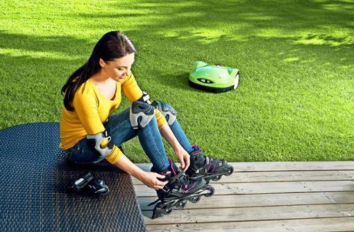 Wenn das Handy den Rasenmäher steuert