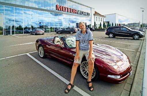 Joachim Hanfstein organisiert seit fünf Jahren das Corvette-Treffen in der Motorworld. Foto: factum/Bach