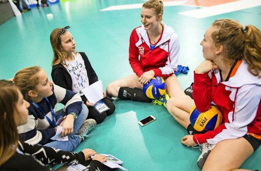 Profi-Volleyballerinnen im Interview