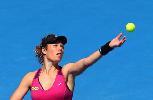 Laura Siegemund im Match gegen Jelena Jankovic (Serbien) Foto: AAP