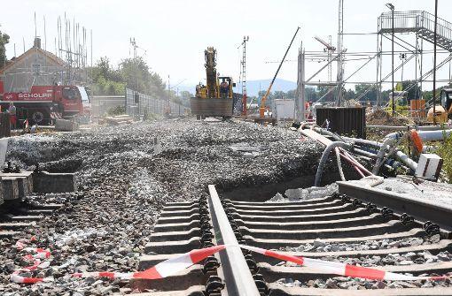 Ursache für Gleisabsenkungen soll im Frühjahr 2018 feststehen