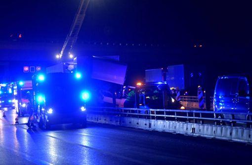 Die Polizei meldete am Mittwochabend einen Unfall auf der A8 bei Stuttgart-Möhringen. Foto: 7aktuell.de/Oskar Eyb