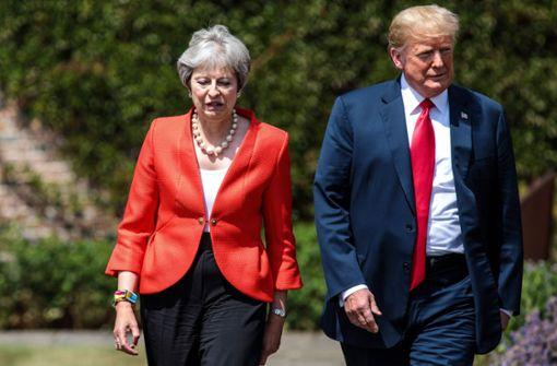 Trump soll May zur Klage gegen die EU geraten haben