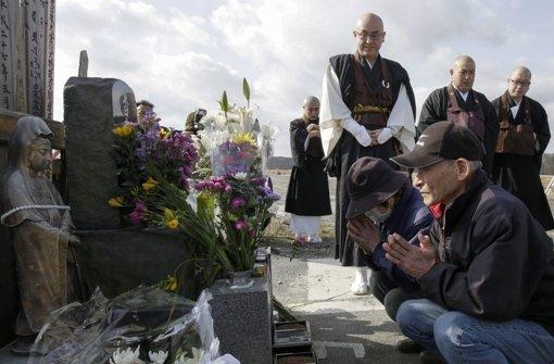 Es ist der fünfte Jahrestag der Atomkatastrophe in Fukushima. Japan gedenkt den Opfern in stiller Trauer. Foto: DPA