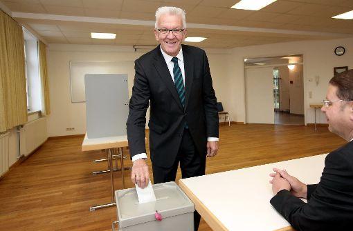 Kretschmann hofft auf gutes Ergebnis für die Grünen