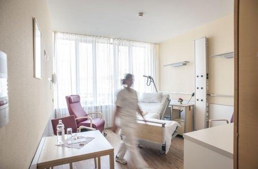 Zimmer in der Palliativeinheit im Klinikum   Stuttgart. Foto: Lichtgut