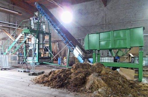 Kompostieranlage der Jettinger Firma Smartcarbon. Hier werden Bioabfälle zu Kohleprodukten verwertet, um Energie zu erzeugen und Flüssigdünger.  Foto: Smartcarbon