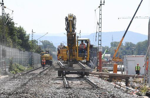 Baugrube für Betonplatte fast fertig