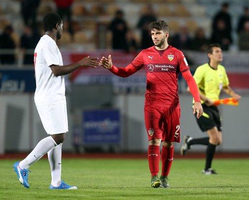 Der VfB Stuttgart besteht den Test in Belek gegen Antalyaspor. Foto: Baumann