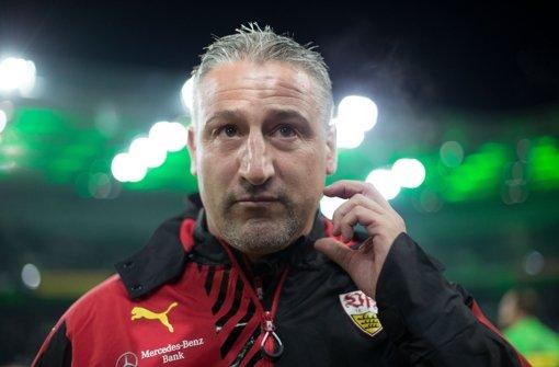 Der VfB Stuttgart war beim Tabellenvierten Gladbach chancenlos. Entsprechend groß ist der Frust bei Trainer Jürgen Kramny. Foto: dpa