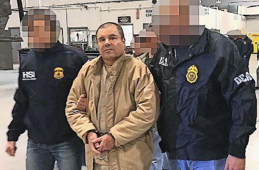 Der berüchtigte mexikanische Drogenboss  Joaquin Guzman, genannt El Chapo, ist schon mehrfach aus dem Gefängnis ausgebrochen und erneut verhaftet worden. Foto: AFP