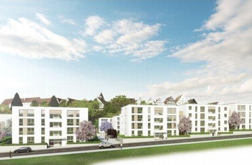 So sollen die Wohnhäuser auf dem Bausparkassenareal aussehen. Foto: Layer