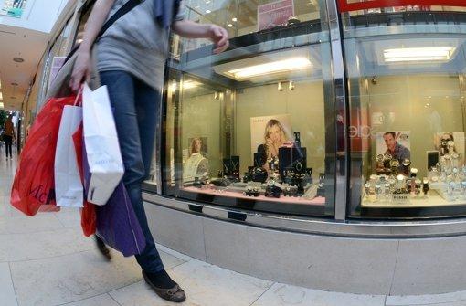 Verbraucher sind im Kaufrausch