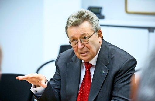 Maschinenbau-Präsident Reinhold Festge: Der Konjunkturmotor stottert Foto: Horst Rudel