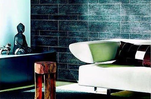 Tapeten mit struktur die toskana im wohnzimmer bauen wohnen stuttgarter nachrichten - Steinwand im wohnzimmer ...