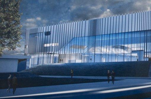 So sah der Siegerentwurf für das Sporthallenbad aus – inzwischen ist der Standort verworfen, ein neuer Architektenwettbewerb notwendig Foto: Max Kovalenko