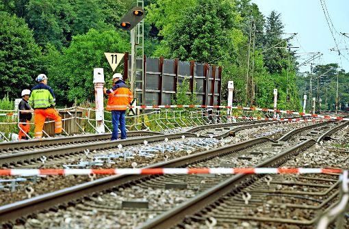 Bei Rastatt sind Gleise abgesackt – im Untergrund wird gerade ein neuer Bahntunnel gebaut. Foto: Stefan Jehle