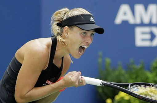 Wimbledonsiegerin Angelique Kerber steht in der dritten Runde der US Open Foto: AP