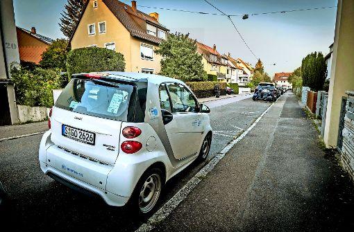 Wohngebiete in Randlage  wie hier in Vaihingen sind aus Sicht von Car2go kein guter Platz für die Mietwagen. Foto: Lg/Zweygarth