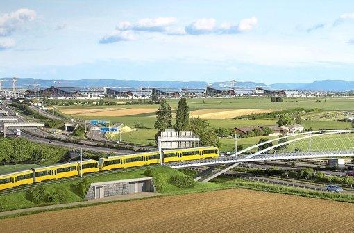 Der Brückenschlag der U6 vom Fasanenhof zur Landesmesse ist eines der letzten großen Ausbauvorhaben der SSB Foto: sbp