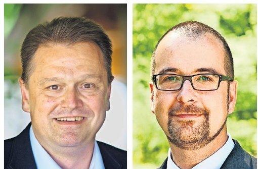 Bis jetzt die einzigen Bewerber:  Alexander Bauer und Michael Scharmann (von links) Foto: Archiv/Eppler und privat